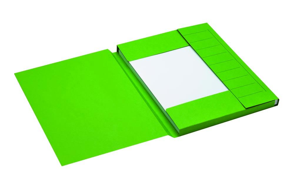 Jalema Secolor dossiermap voor ft A4 uit karton, groen, pak van 25 stuks