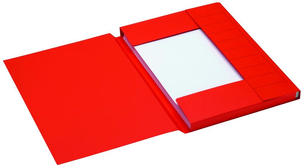 Jalema Secolor dossiermap voor ft A4 uit karton, rood, pak van 25 stuks