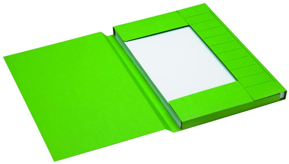 Jalema Secolor dossiermap voor ft folio uit karton, groen, pak van 25 stuks