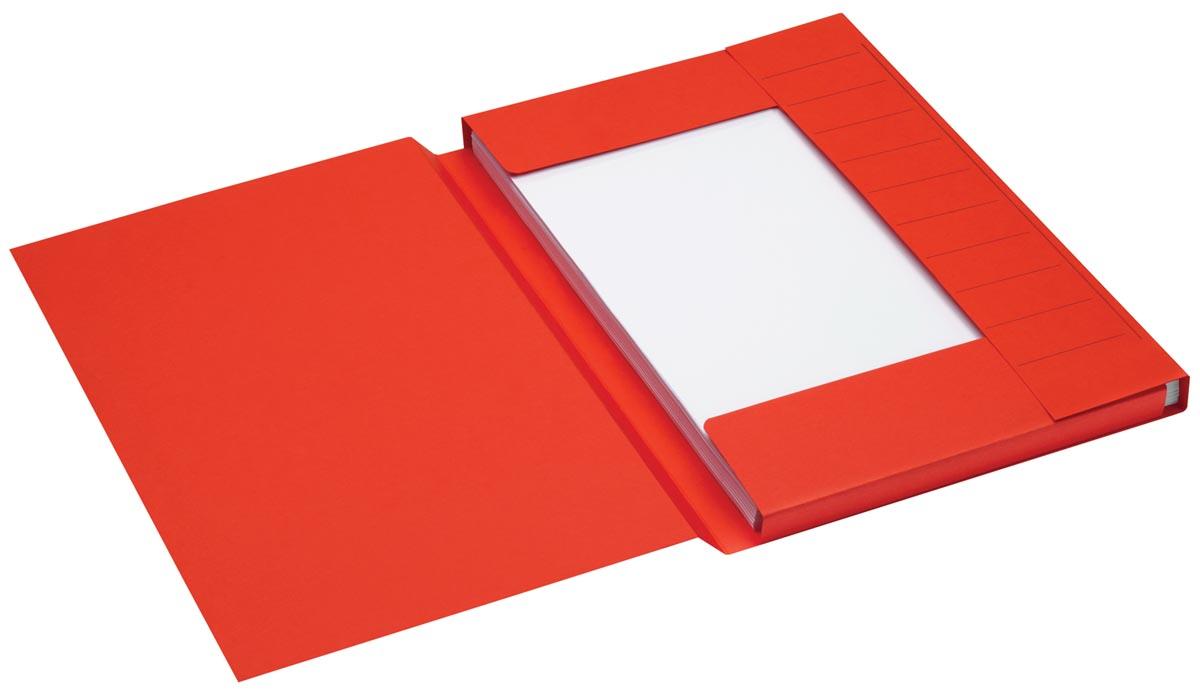 Jalema Secolor dossiermap voor ft folio uit karton, rood, pak van 25 stuks