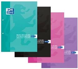 Oxford SCHOOL collegeblok, geassorteerde kleuren, ft A4, 100 vel, gelijnd