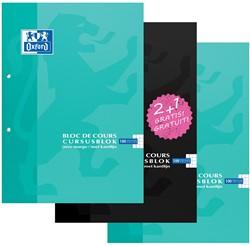 Oxford cursusblok 2 + 1 GRATIS, geassorteerde kleuren, ft A4, 100 vel, geruit 5 mm