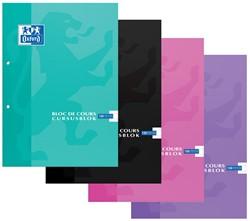 Oxford SCHOOL cursusblok, geassorteerde kleuren, ft A4, 100 vel, geruit 10 mm