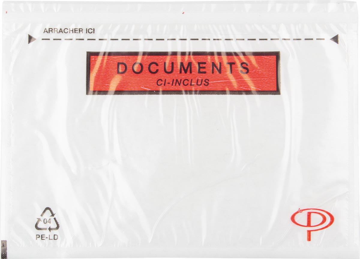 Pergamy documentmapje transparant, Ft C6: 165 x 115 mm, doos van 100 stuks