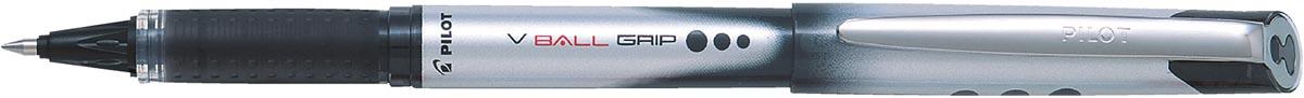 Pilot roller V-BALL Grip, medium punt 0,7 mm, zwart