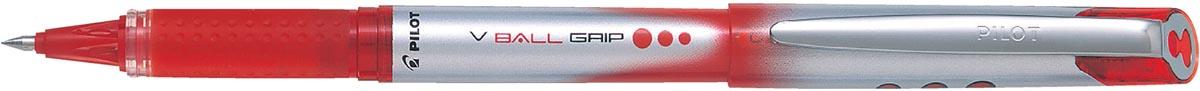Pilot roller V-BALL Grip, medium punt 0,7 mm, rood