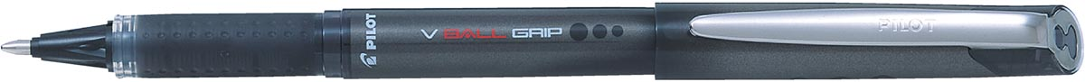 Pilot roller V-BALL Grip, brede punt 1,0 mm, zwart