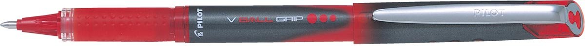 Pilot roller V-BALL Grip, brede punt 1,0 mm, rood