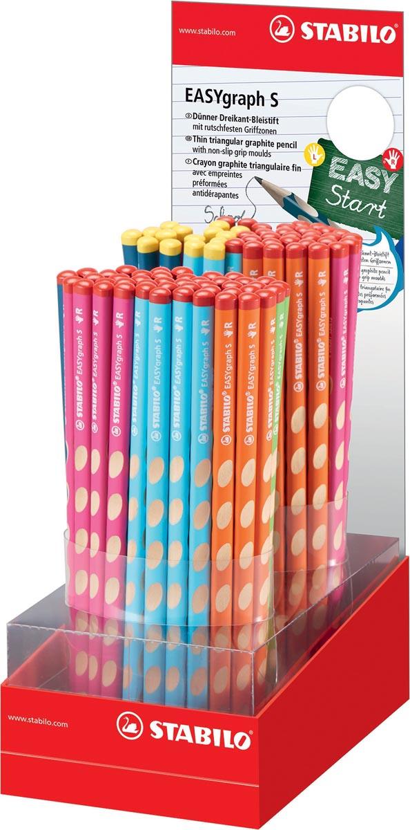STABILO EASYgraph S potlood, HB, 3,15 mm, display van 90 stuks in geassorteerde kleuren