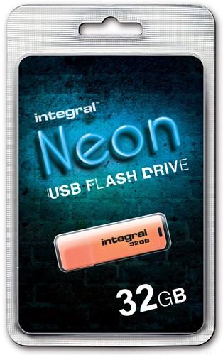 Integral Neon USB 2.0 stick, 32 GB, oranje