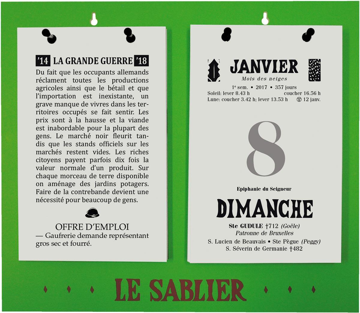 Rugplaat uit kunststof voor Le Sablier Géant, ft A4