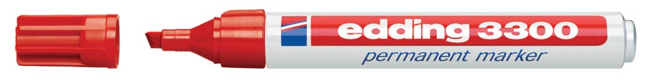 Edding permanent marker e-3300 rood