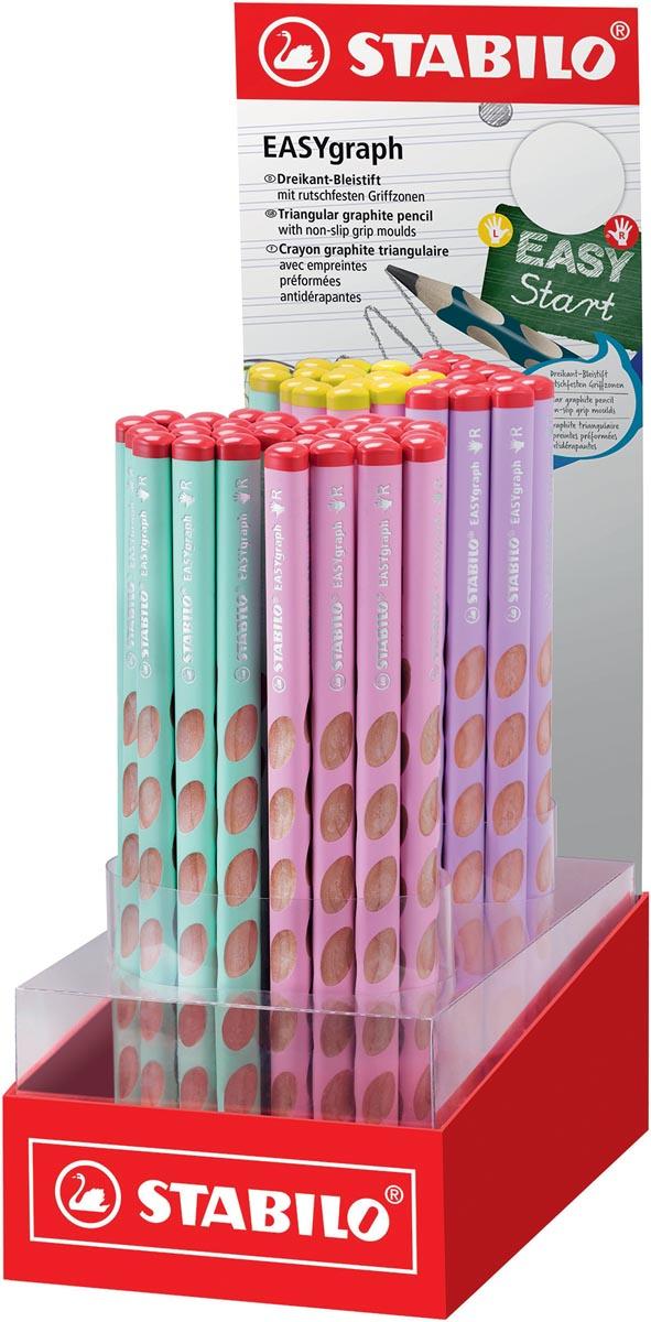STABILO EASYgraph S Pastel potlood, HB, 3,15 mm, display van 60 stuks in geassorteerde kleuren