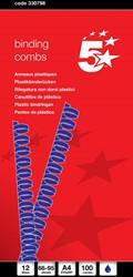 5 Star bindruggen, doos van 100 stuks, 12 mm, blauw