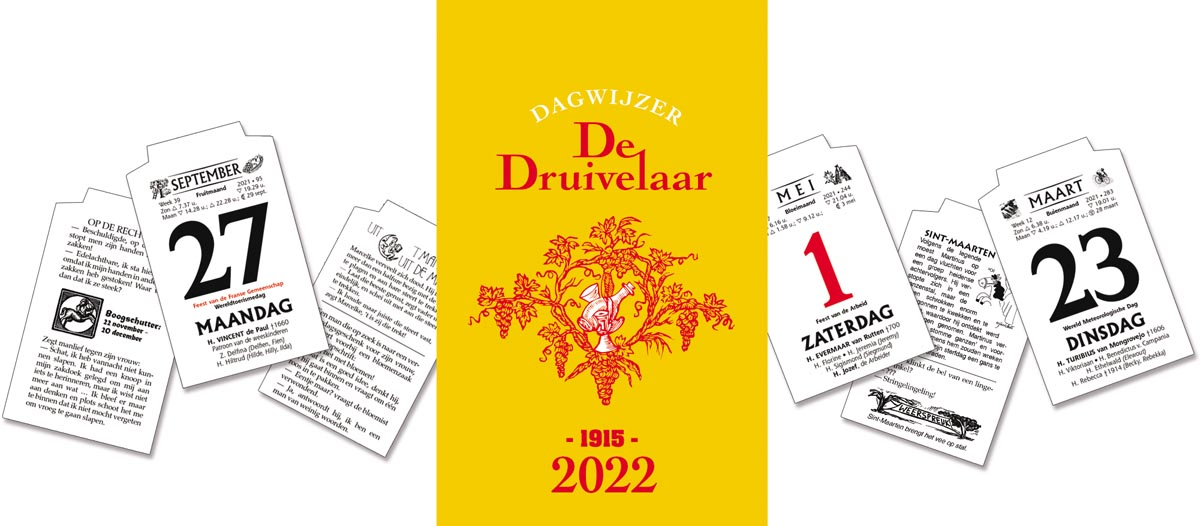 Dagblokkalender De Druivelaar 2022