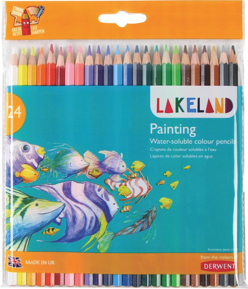 Lakeland aquarelpotlood, pak van 24 stuks in geassorteerde kleuren