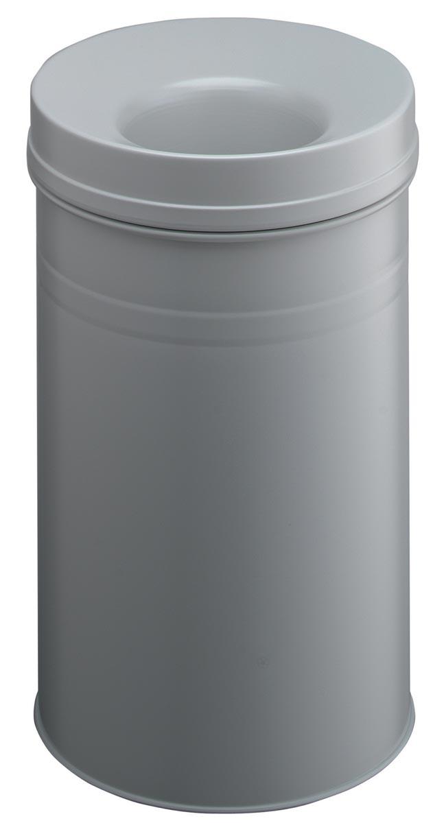 Durable asbak Safe+ 30 liter, grijs