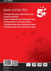 5 Star transparanten voor zwart/wit laserprinters