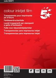 5 Star transparanten voor kleureninkjetprinters