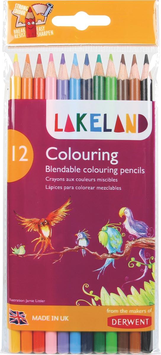 Lakeland kleurpotloden, pak van 12 stuks in geassorteerde kleuren
