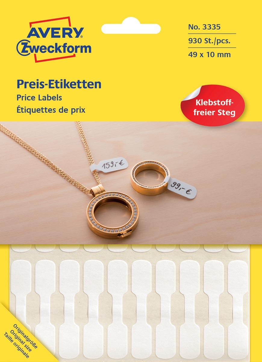 Avery juweliersetiketten, blister met 924 etiketten