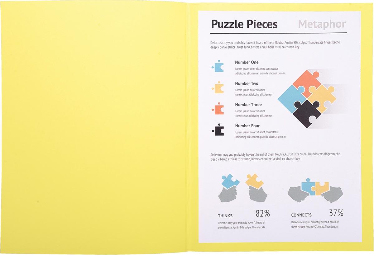 Exacompta dossiermap Super 180, voor ft A4, pak van 100 stuks, geel