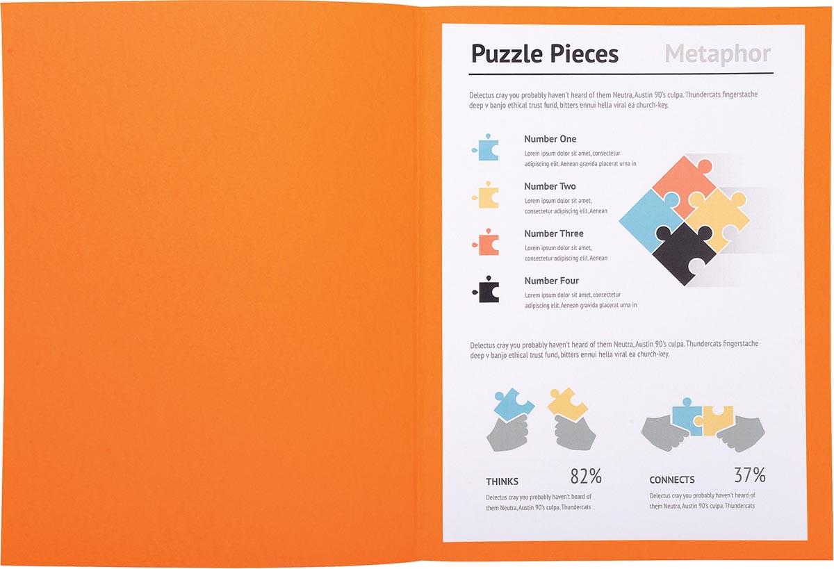 Exacompta dossiermap Super 180, voor ft A4, pak van 100 stuks, oranje