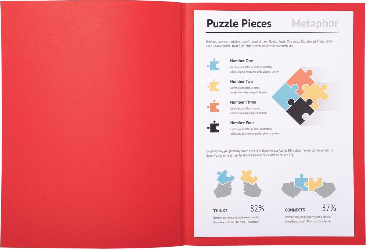 Exacompta dossiermap Super 180, voor ft A4, pak van 100 stuks, rood
