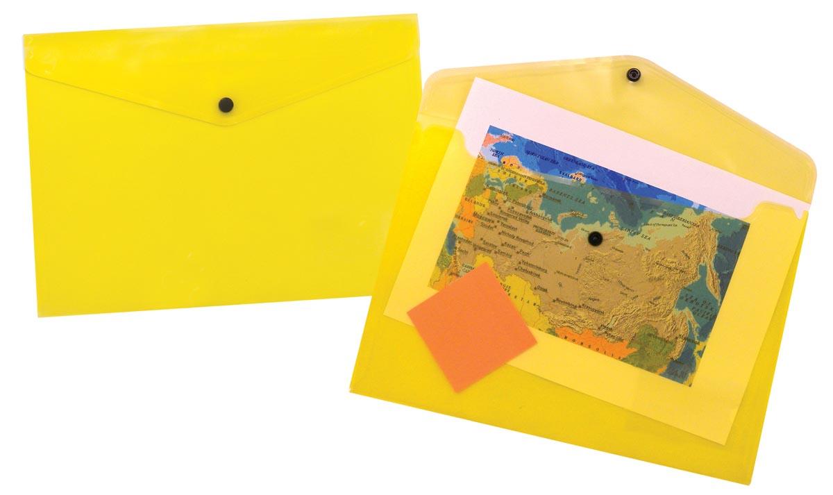5 Star documentenmap ft A4, geel