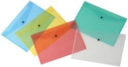 5 Star documentenmap ft A4, geassorteerde kleuren: rood, blauw, groen en transparant