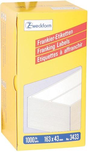 Avery Zweckform frankeeretiketten ft 163 x 43 mm, doos van 1000 stuks