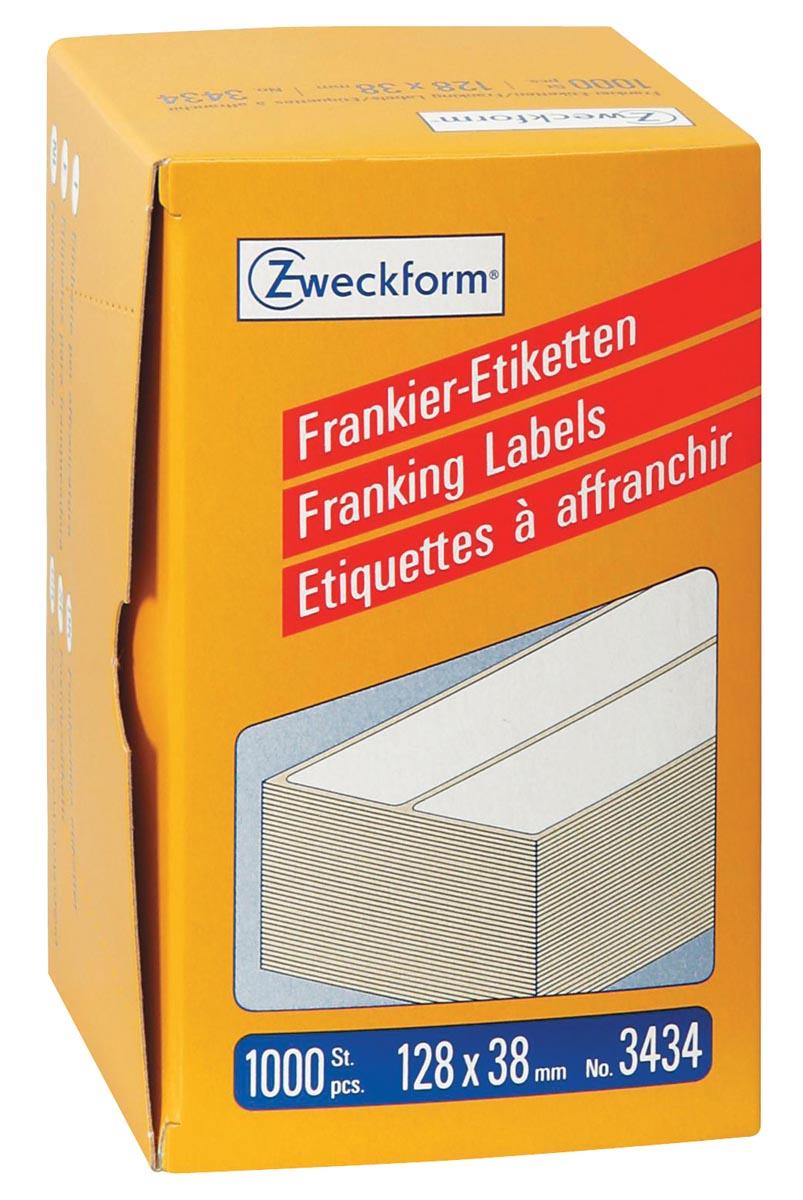 Avery Zweckform frankeeretiketten ft 128 x 38 mm, doos van 1000 stuks