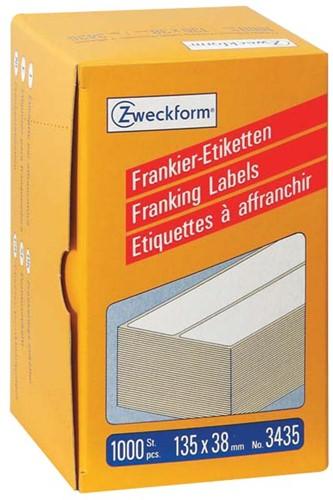 Avery Zweckform frankeeretiketten ft 135 x 38 mm, doos van 1000 stuks