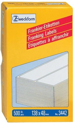 Avery Zweckform frankeeretiketten ft 138 x 48 mm, doos van 500 stuks