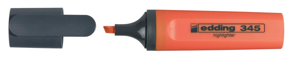Edding markeerstift 345 oranje, doos van 10 stuks