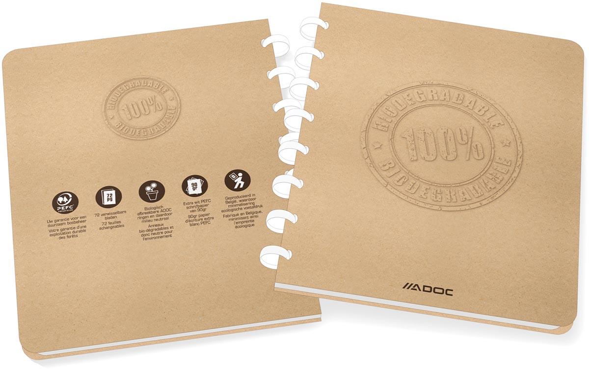Adoc schrift Bio, ft A5, 144 bladzijden, commercieel geruit,