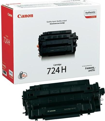 Canon Tonercartridge zwart 724H - 12500 pagina's - 3482B002