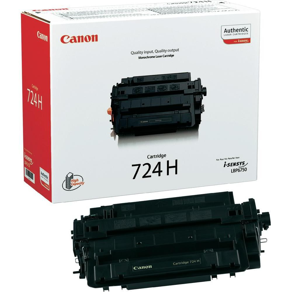 Canon toner 724H, 12.500 pagina's, OEM 3482B002, zwart