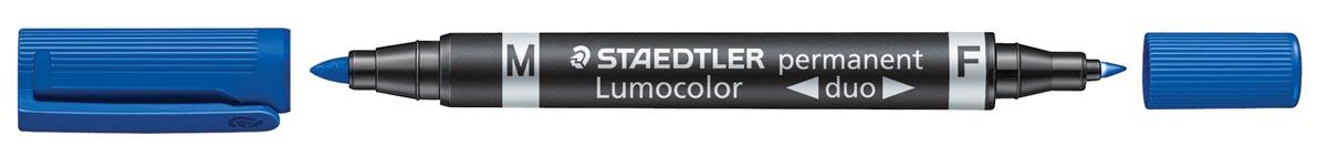 Staedtler Permanent marker Lumocolor Duo blauw