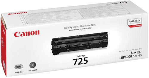 Canon Tonercartridge zwart 725 - 1600 pagina's - 3484B002-2