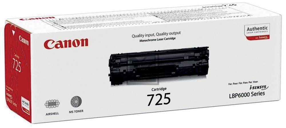 Canon Tonercartridge zwart 725 - 1600 pagina's - 3484B002