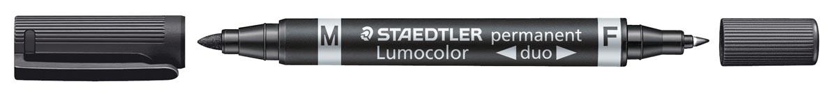 Staedtler Permanent marker Lumocolor Duo zwart