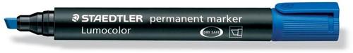 Staedtler permanente marker blauw, schrijfbreedte 2 - 5 mm, schuine punt