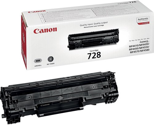 Canon toner 728, 2.100 pagina's, OEM 3500B002, zwart