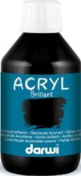 Darwi Glanzende acrylverf zwart