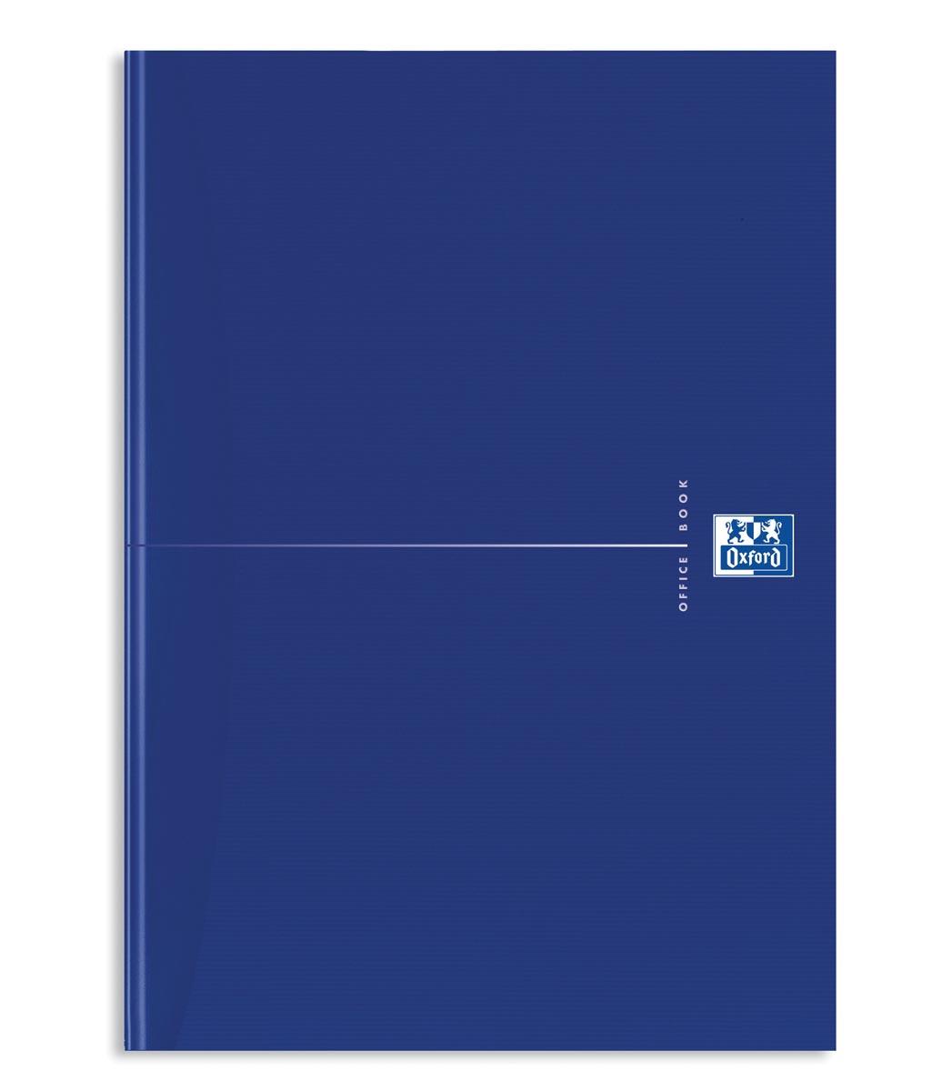 Oxford Office Essentials schrift, harde kaft, 192 bladzijden, gelijnd, ft A4, original blue