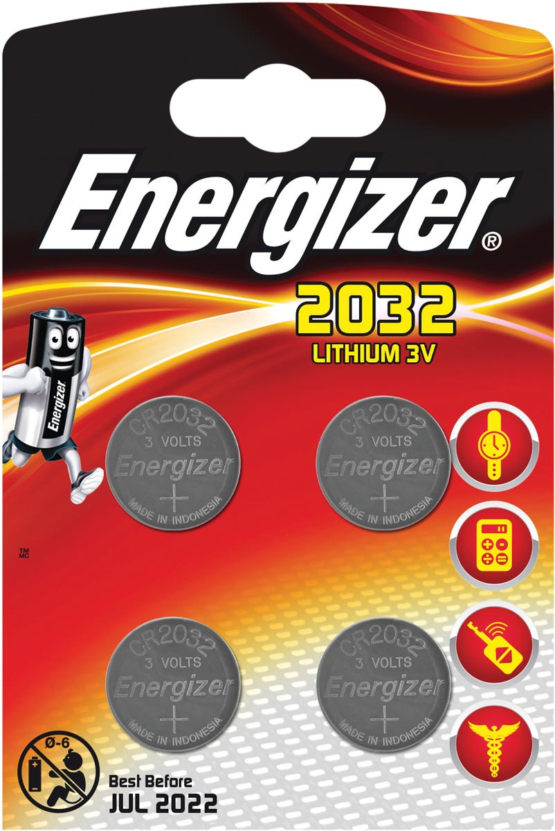 Energizer Knoopcel CR 2032 Lithium 240 mAh 3 V 4 stuks