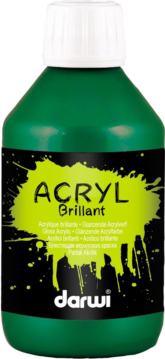 Darwi glanzende acrylverf, flacon van 250 ml, donkergroen