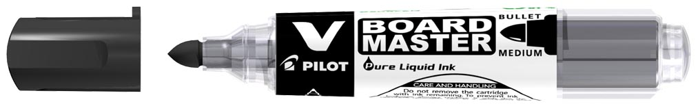 Pilot whiteboardmarker V-Board Master M, medium 2,3 mm, zwart