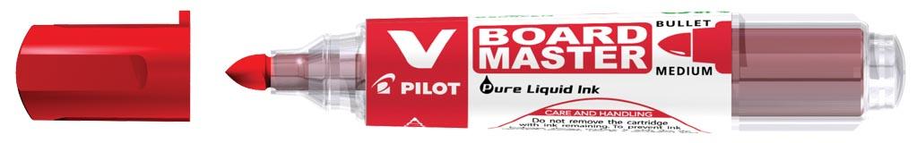 Pilot whiteboardmarker V-Board Master M, medium 2,3 mm, rood